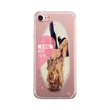 Blonde Best Friend Phone Case Cute Clear Phonecase