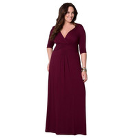 Big Large Plus Size Knitted Maxi Dress Women Long Party  Black Navy Blue Burgundy Elegant Floor Length Evening 5 6 7 8XL
