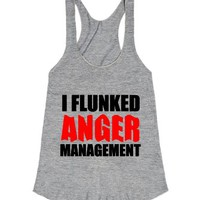 I Flunked Anger Management-Unisex Athletic Grey T-Shirt