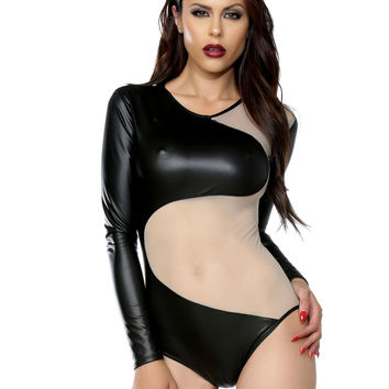 Long Sleeve Fetish Bodysuit-Fetish Clothes