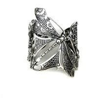 Lotta Djossou De Paris – Dragonfly Combined Cuff In Antique Sterling Silver | Thirteen Vintage