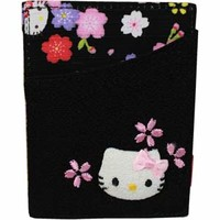 Black SAKURA Hello Kitty Card Case