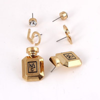 Bottle No5 Stud Earrings (3pc Set) - Gold or Silver