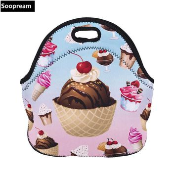 free shipping bolsa termica lancheira neoprene bread lunch bag milk large thermal bag lunch boxes women kids snacks school tote