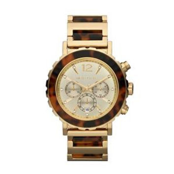 MICHAEL KORS Tortoise Chronograph Women's Watch