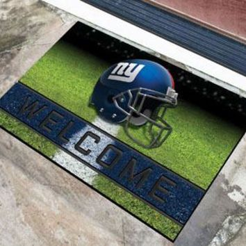 New York Giants Door Mat 18x30 Welcome Crumb Rubber