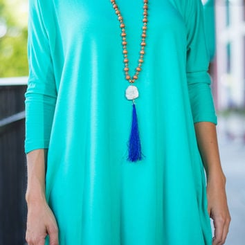 Positive Perspective Top, Teal