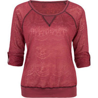 FULL TILT Lace Burnout Womens Top 206392320 | Knit Tops & Tees | Tillys.com