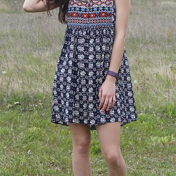 Peasant Print Dress - FINAL SALE NO RETURNS NO EXCHANGES