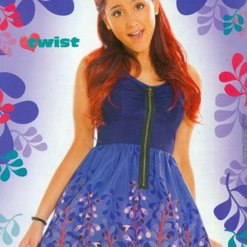 "ARIANA GRANDE - VICTORIOUS - TEEN GIRL ACTRESS 11"" x 8"" MAGAZINE PINUP - POSTER"