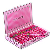 Foiled Milk Chocolate Cigars - Girl: 24-Piece Box