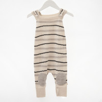 Alpaca Wool Sleeveless Jumpsuit - Grey