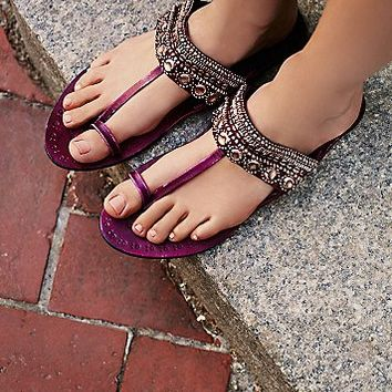 FP Collection Womens Scorpio Embellished Sandal