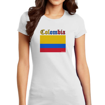 Colombia Flag Juniors Petite T-Shirt
