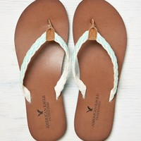 AEO BRAIDED LEATHER FLIP FLOP