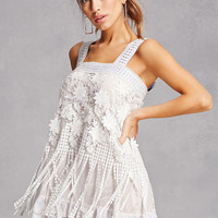 Crochet Fringe Cami Dress