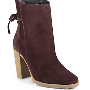 Pierre Hardy - Suede Bow-Detail Ankle Boots