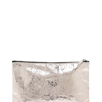 Metallic Foil Makeup Bag