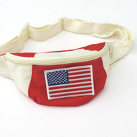 New American Flag Embroidered Retro Fanny Pack by WildKardVintage