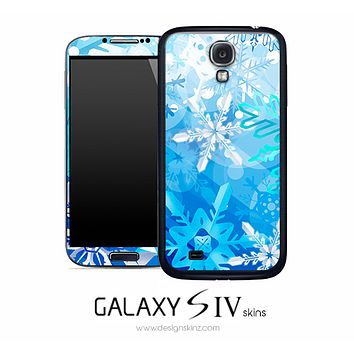 Blue Snowflake Skin for the Galaxy S4