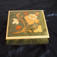 "Inlaid Music Box Made in Italy ""Come Back to Sorrento"""
