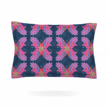"Jane Smith ""Hamsa"" Pink Pattern Pillow Sham"