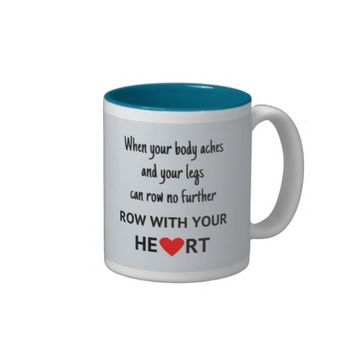 Row with your heart Two-Tone mug