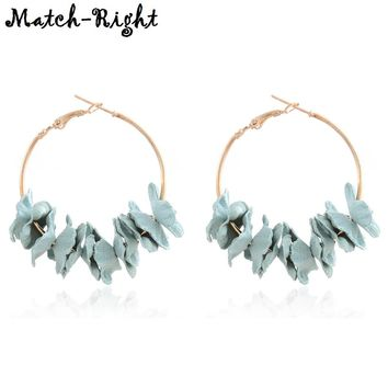 Korean Flannel Flower Earrings for Women New Arrival Fashion Jewelry Women's Kpop Earring Pendants for Gift to a Woman SP375