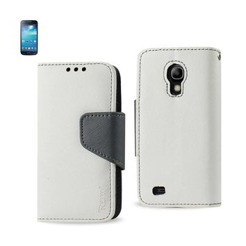 New 3 In 1 Wallet Case In White For Samsung Galaxy S4 Mini By Reiko