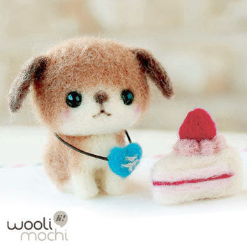 Lop-ear Puppy & Strawberry Shortcake Needle Felting Kit
