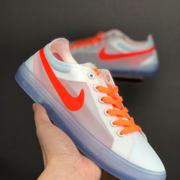 HCXX 19June 1083 Nike off white x Nike Blazer Low Transparent gauze Fashion Board Shoes