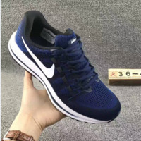 """NIKE"" Trending Fashion Casual Sports Shoes Mesh Navy blue"