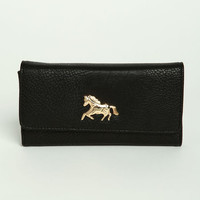 HORSE LEATHERETTE WALLET