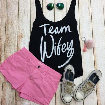 Team Wifey Tank: Black