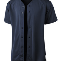 LE3NO PREMIUM Mens Full Button Down Mesh Short Sleeve Baseball Jersey