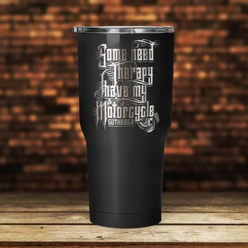 Motorcycle Therapy Tumbler
