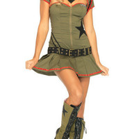 Private Pin Up Costume, Army Private Costume, Private Pin Up Halloween Costume, Army Halloween Costume, Sexy Army Costume