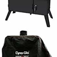 Dyna-Glo DGO1890BDC-D Wide Body Vertical Offset Charcoal Smoker and premium smoker cover