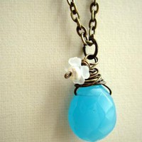 blue vintage - necklace