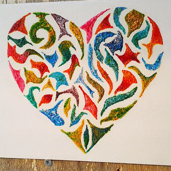 Original Oil Painting 'Happy Heart' Painting Heart Abstract painting Modern Art Love painting Wedding Gift
