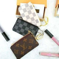 PEAP1Q Louis Vuitton Monogram Canvas Key Pouch