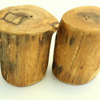 Salt and Pepper shakers - Reclaimed wood - Handmade from Cedar Branches