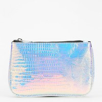 Deena & Ozzy Luxe Elements Holographic Zip-Pouch - Urban Outfitters