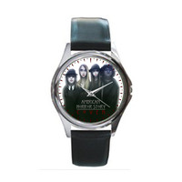 American Horror Story Coven Black Leather Watch Wristwatch Unisex