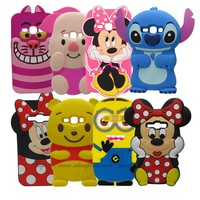 3D Cartoon Minnie Mickey Mouse Silicone Rubber back cover For Samsung Galaxy J1 2016 J120 J120F J1 2016 SM-J120F Phone Cases