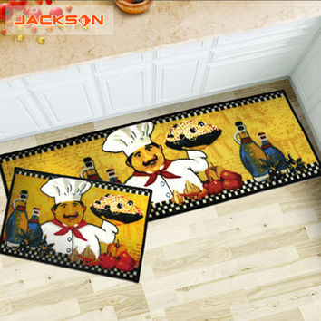 2016 Brand Kitchen Carpet 40*60 40*120 Classic Modern Style Rug Set Luxury High Quality Colorful Mat 2 pcs/1set Cartoon Mat Set