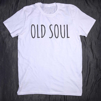 Old Soul Hippie Slogan Tee Yoga Boho Tumblr Top T-shirt