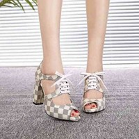 LV Louis Vuitton Sandals Shoes 95mm Stiletto Heel Cow Leather White Casual Women Slippers