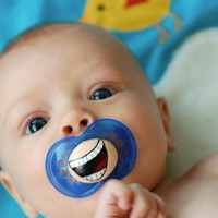 The Comedian- Custom Hand Painted Pacifier
