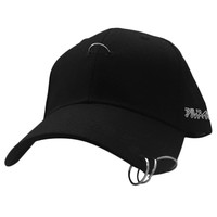 unisex solid Ring Safety Pin curved hats baseball cap snapback caps sport casquette gorras